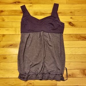 lululemon athletica workout tank w/ drawstring hem
